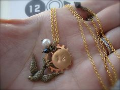 DISTRICT 12 - Hunger Games Inspired Charm Necklace with Mockingjay, Pearl, Hand Stamped Charm and Arena Clock Cogs Catching Fire Katniss