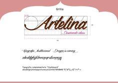 Grilla  y Tipografia de Artelina