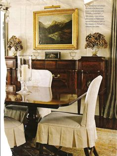 LOVE the sideboard!  Exactly what I want!!! christinevuillemot.com  for slipcovers