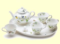 Child Girl's Tea Set Porcelain Doll Tea Sets Child's Collectible Miniature Tea Set