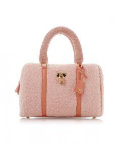 Samantha Thavasa Vega Mokomoko Fluffy Hand shoulder Bag Purse LARGE F//S