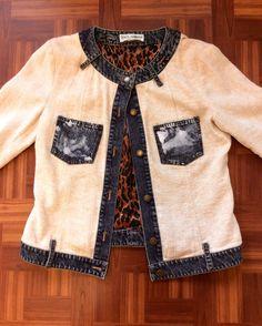 #DolceGabbana Linen/Denim Jacket | Size 12 | $125!! Call for more info (781)449-2500. #FreeShipping #ShopConsignment  #ClosetExchangeNeedham #ShopLocal