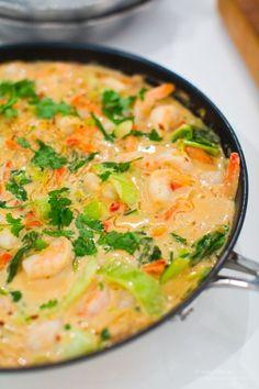 Prawn I kokos mjölk Seafood Recipes, Cooking Recipes, Enjoy Your Meal, Asian Recipes, Healthy Recipes, Pak Choi, Clean Eating, Healthy Eating, Junk Food