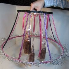 How to make a chandelier from an old lamp shade | Guidecentral