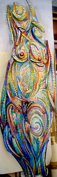"""Water, Air, Women"" - Giulio Menossi, Italy {mosaic nude woman}"