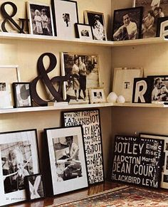 Love the black & white on an off-white wall.
