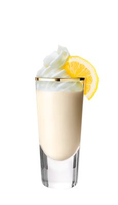 Baileys Lemon Sorbet Dream shot recipe. A drink made with Baileys Vanilla Cinnamon, and Irish cream.