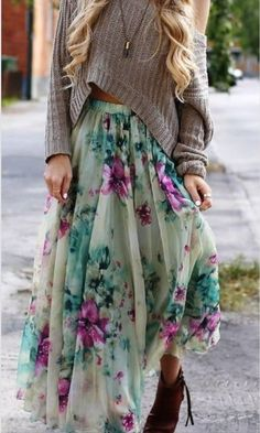 Floral maxi! Spring must have. Flirt away with this absolute must have item! #spring #2014 #fashion
