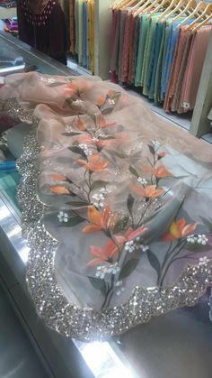 Hand paint dupatta with hand work