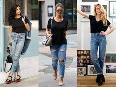 7 maneiras de usar t-shirt preta - Moda it