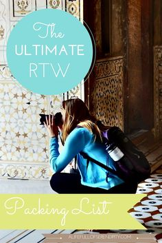 The ULTIMATE tried-and-tested RTW packing list! Thinking of Backpacking around the world? Not sure what to take on your trip? Check it out!