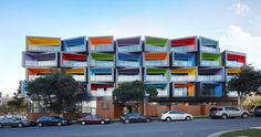 This New Apartment Building Is A Jumble Of Colorful Balconies