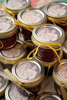 Cute Personalized Label On Jam For Golden Anniversary Favors Party 50th