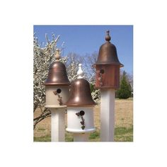 Ivy House Bird House w White Spun Copper Roof <3 This is an Amazon Associate's Pin. Click the image for detailed description on Amazon website.