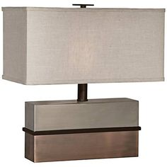 Thumprints Capricorn Nickel and Bronze Accent Table Lamp