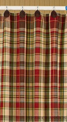 Red And Green Plaid Shower Curtains Country Stanton Plaid