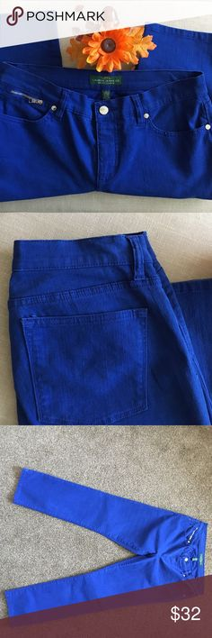 🆕Lauren Jeans Co. LRL Modern Straight Ankle Jeans These Lauren Jeans Co. LRL Modern Straight Ankle Jeans are bright blue size 8. They are in excellent condition and feature elegant silver tone hardware and embellishments. I'm selling for a friend but welcome offers! These are awesome pants 👖 wish they were my size! Lauren Ralph Lauren Jeans Ankle & Cropped