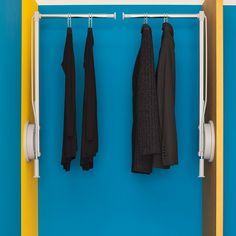 Ambos Wardrobe Lifts, with 12kg load capacity, are available in Left and Right mounting options.  The lifts swing down when operated, allowing you to load them in an easily reached position before raising them back up, thus making higher parts of wardrobes more usable. Use one for a single wardrobe, or mount a Left and a Right side by side in a wider wardrobe space, giving you individually operable storage.