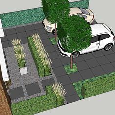 Dream Garden, Home And Garden, Contemporary Garden Design, Front Gardens, Outdoor Living Rooms, Garden Yard Ideas, Landscape Plans, Front Yard Landscaping, Patio