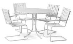 Produktbild - Kullavik, Trädgårdsgrupp med 4 stolar