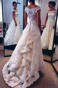 Hot Sales High Quality Lace Tiered Cap Sleeves Wedding Dress Bridal Dresses Wedding Gown LD638