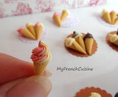My french cuisine (polymer clay…I'd love to play with this stuff!)