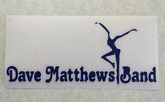 DMB Dave Matthews Band Firedancer Decal Orange Vinyl by nockonwood, $4.00