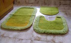 Tappeti verde per il bagno - Arredo bagno - Vintage tappeti verde - tappeto antiscivolo - bagno verde di VintaFai su Etsy