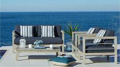 Capella 4 Piece Outdoor Lounge Suite - Outdoor Living - Furniture ...
