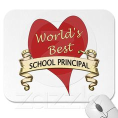 World's Best School Principal Mouse Pads from Zazzle.com