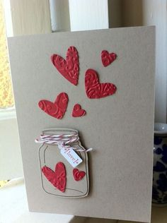 """Love how the little hearts are """"escaping"""" to greet you! – trina Love how the little hearts are """"escaping"""" to greet you! Love how the little hearts are """"escaping"""" to greet you! Love Cards, Diy Cards, Tarjetas Diy, Ideias Diy, Handmade Birthday Cards, Valentine Day Crafts, Creative Cards, Anniversary Cards, Scrapbook Cards"""