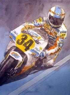 500cc Motorcycles, Gp Moto, Vr46, Bike Art, Motorcycle Bike, Caricatures, Motogp, Cool Bikes, Ducati