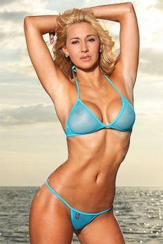 73699cd6823 The Sexy Playboy Jeni Summers wearing a Berrydog sheer micro thong bikini