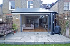 Single Storey Extension Wrap Around Extension Veranda, House Extension Plans, Cottage Extension, House Extension Design, Extension Designs, Extension Ideas, Wraparound Extension, Single Storey Extension, Side Extension