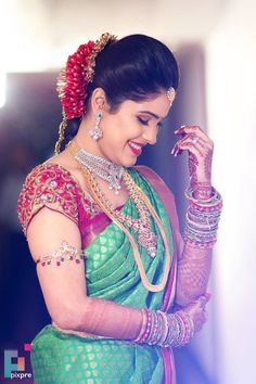 Ezwed - South Indian Wedding Website - Wedding Photographers in Chennai, Best Wedding Photography, Planners - South Indian Wedding Saree, Indian Bridal Photos, South Indian Wedding Hairstyles, Indian Wedding Couple Photography, Bride Photography, Indian Wedding Photographer, Indian Bride Poses, Wedding Saree Blouse Designs, Wedding Blouses