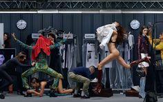 Jean Paul Goude Recreates Louis Vuitton Spring 2015 Backstage for ELLE |
