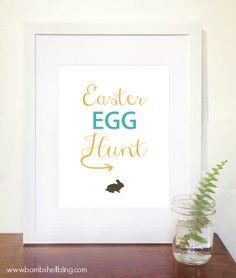 Free Easter Egg Hunt Printable - simple and sweet---I love it!