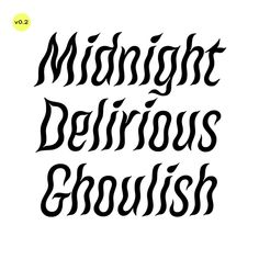 License Macabre and more in-progress typefaces on Future Fonts.