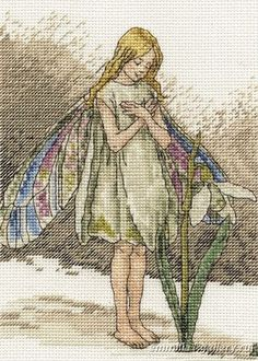 "Borduurpatroon ""Overig"" Kruissteek *Embroidery Cross Stitch Pattern ~Flower Fairy Sneeuwklokje 1/3~"