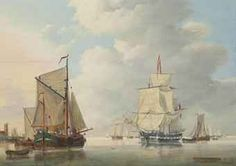 Johan Hendrik Boshamer (Dordrecht 1775-after 1859)  A calm day on the Scheldt