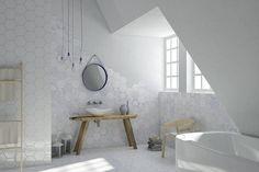 Melograno - Ornamenta : Bagno moderno di Ceramiche Addeo