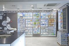 Madrid pharmacy - look at that shelving!