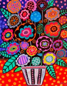 Colorful Flowers - Heather Galler