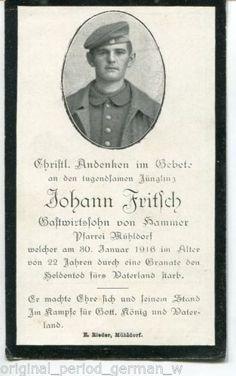 GERMAN-WW1-DEATH-CARD-STERBEBILD-JOHANN-FRITSCH-30-JAN-1916