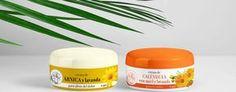 Diseño de etiquetas para Crema de árnica y Crema de caléndula de Pájaro Tigre, por http://soytandem.com.ar
