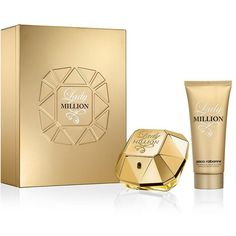 Paco Rabanne Lady Million Christmas Set (EDP, 80ml) ($88) ❤ liked on Polyvore featuring beauty products, fragrance, paco rabanne fragrance, paco rabanne, paco rabanne perfume, eau de parfum perfume and edp perfume