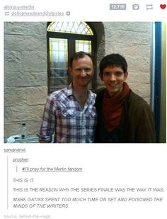 THIS EXPLAINS IT. THIS EXPLAINS THE END OF MERLIN.