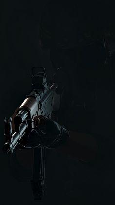 PlayerUnknown's Battlegrounds, gun, dark, 720x1280 wallpaper