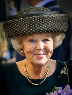 Princess Beatrix has a lovely face and a fabulous unique hat too! Princess Tiara, Princess Beatrice, Royal Princess, Queen Margrethe Ii, Queen Maxima, Cousins, Kingdom Of The Netherlands, Western Coast, Royal Crowns