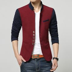 9997d3122 Blazer Masculino Vermelho Casual Slim Fit Bérgamo - Compre Agora